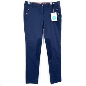 Boden Navy Blue Stretch Cotton Pants